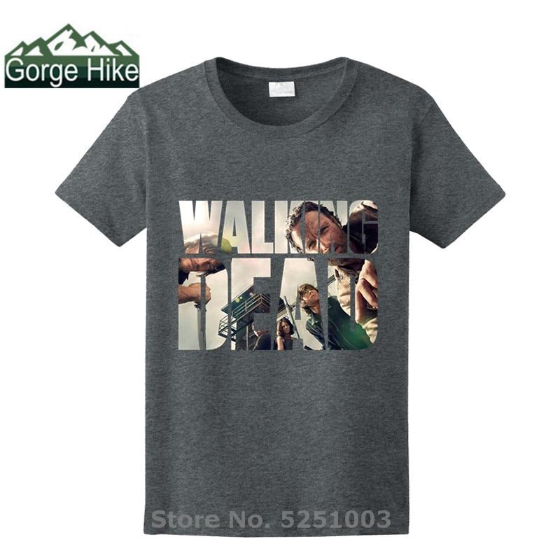 The Walking Dead Movie tshirt Paparazzi T-Shirt Rick Grimes Carl Daryl Michonne popular Man fashion brand T shirts hot selling