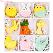 PATIMATE paskalya tavşanı yumurta ahşap dekor el sanatları DIY yaratıcı paskalya dekorasyonu paskalya parti malzemeleri Wielkanoc çocuklar hediye ev için