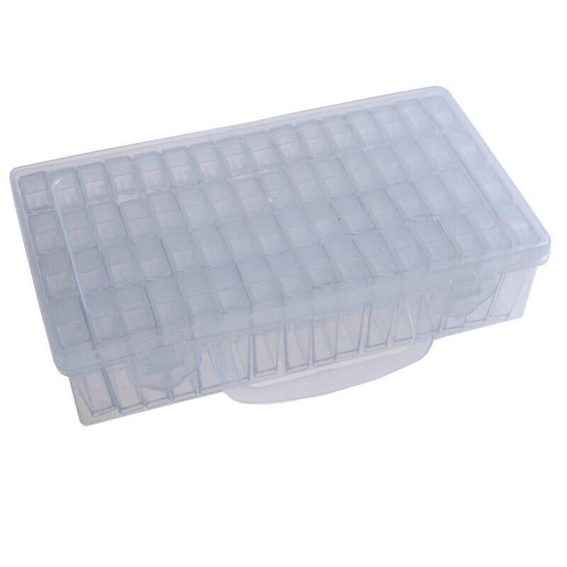 64 pçs ferramentas de pintura diamante acessórios caixa armazenamento contas contêiner diamante bordado pedra mosaico conveniência caixa