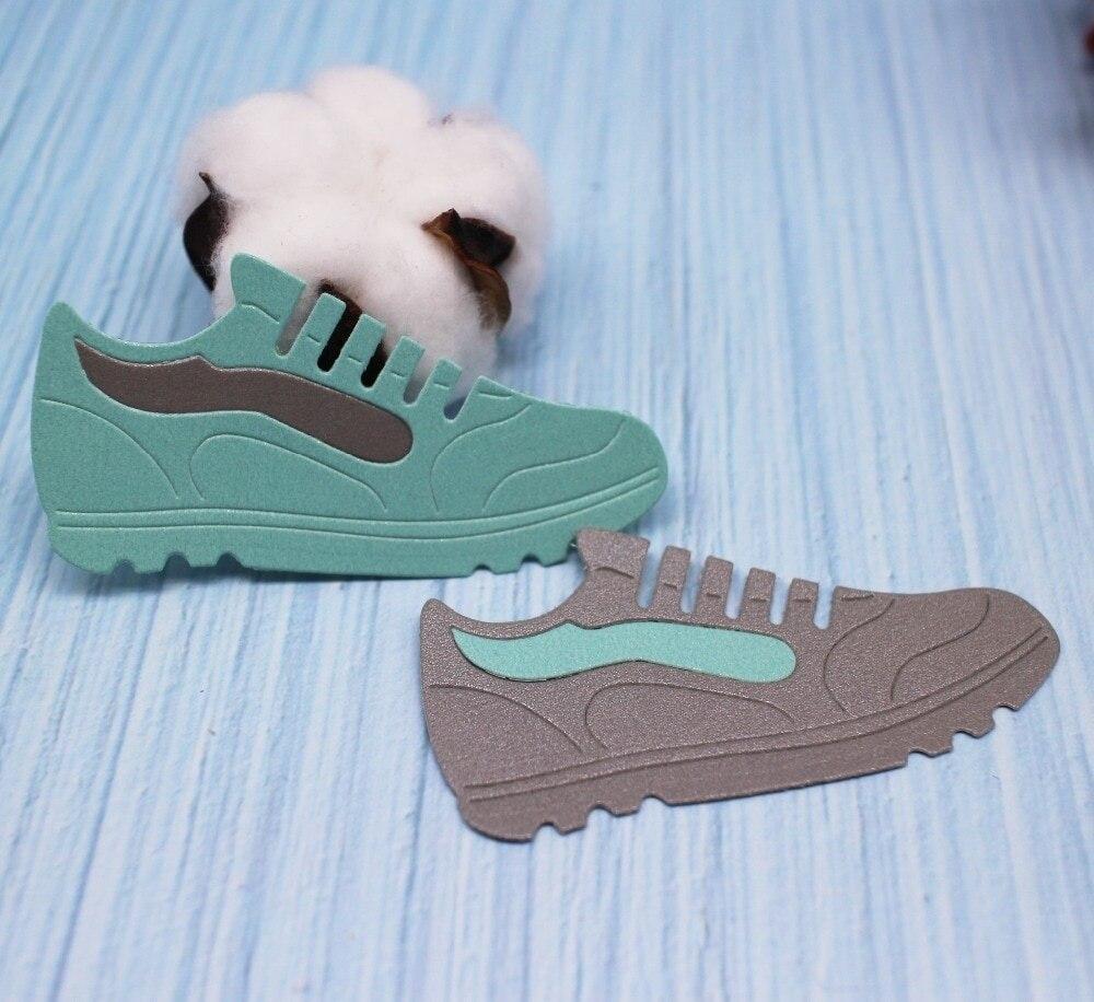 Crazyclown DIY обувь, металлические режущие штампы, тренажерный зал, обувь, высечки, трафареты скрапбукинга, фото тиснение, бумажные карты ремесла