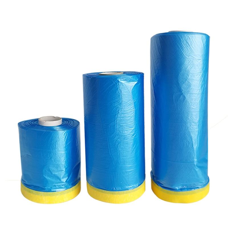 Автомобильная пластиковая Маскировочная пленка, предварительно заклеенная Защитная Маскировочная пленка, клейкая Маскировочная пленка д...
