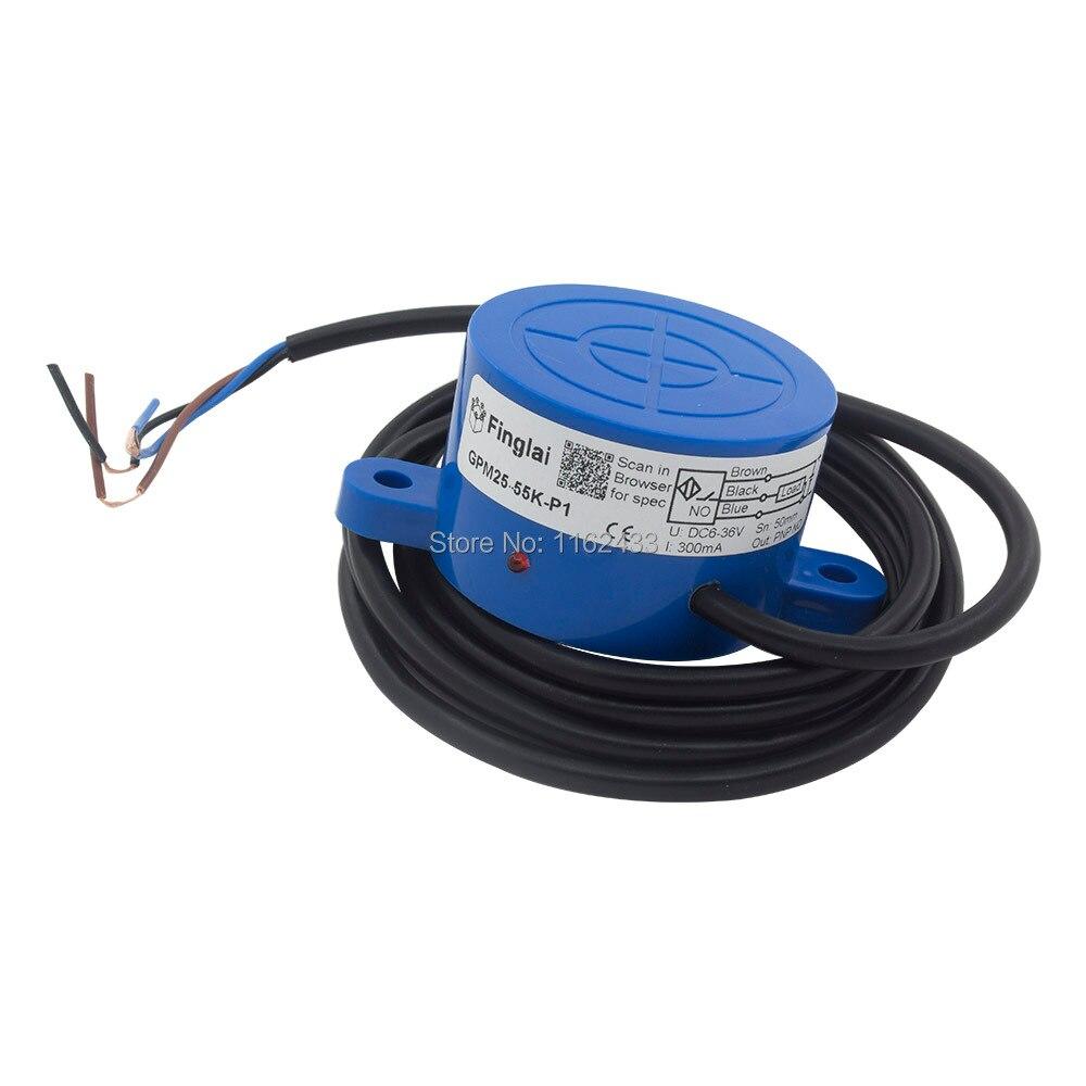 Dia.55 25 ミリメートル検出直流 3 線 npn no nc GPM25-55K N1 N2 P1 P2 SE-3025 パネル取付誘導近接センサースイッチ