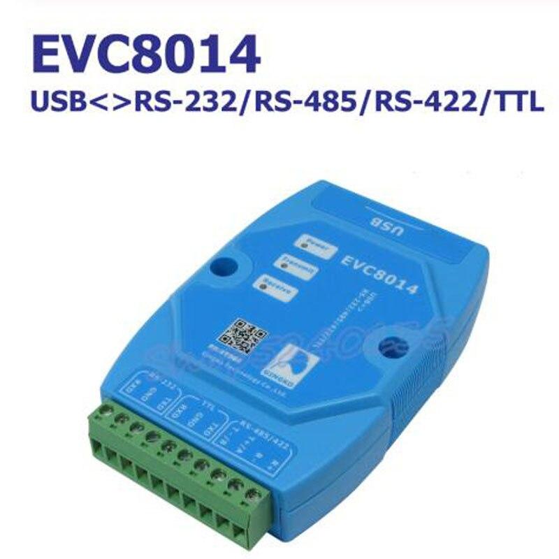 EVC8014 4 في 1 USB إلى RS232/ RS485 / RS422 / TTL اقتران المغناطيسي عزل محول