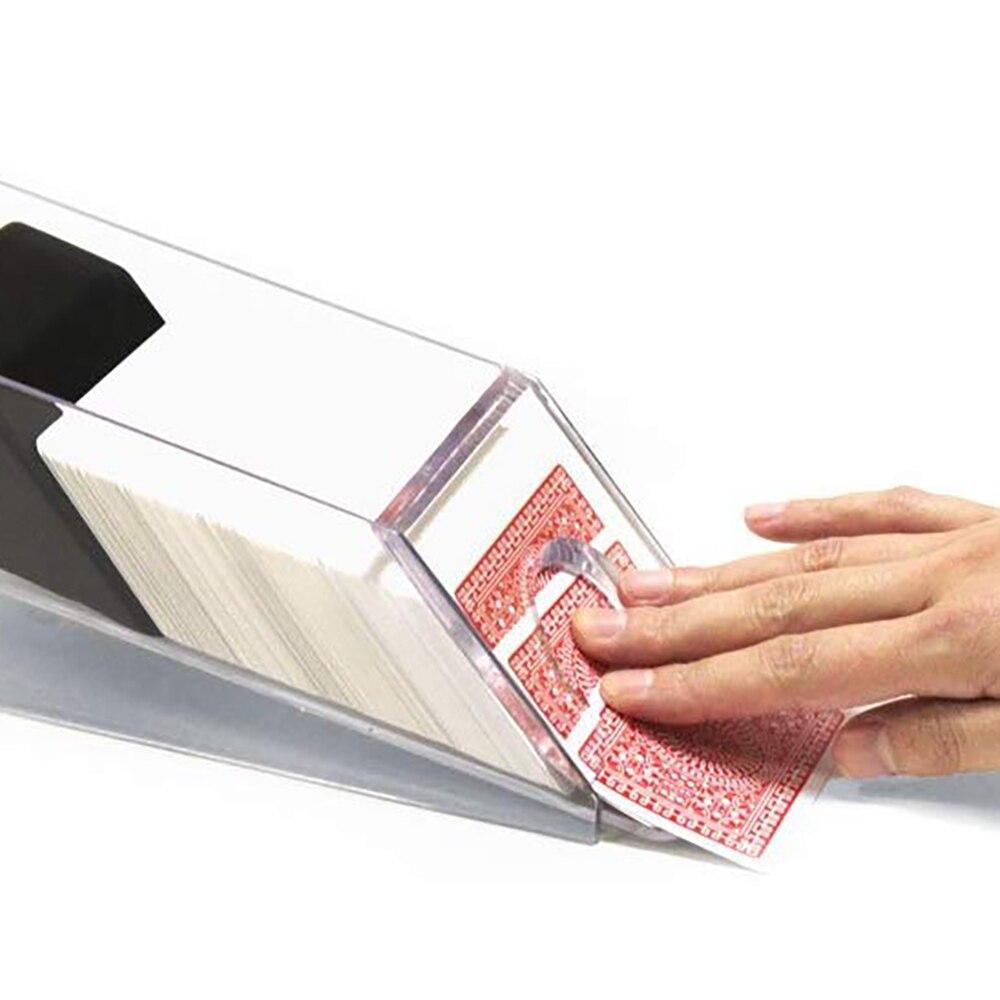 Plástico Blackjack Dealing Shoe sostiene 1-4 mazos Casino Poker Dealer cartas de juego Juegos de mesa accesorios transparentes