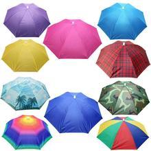 뜨거운 할인 판매 새로운 유용한 야외 Foldable 태양 우산 모자 골프 낚시 캠핑 모자를 쓰고 있죠 모자 모자 모자 안티 햇빛