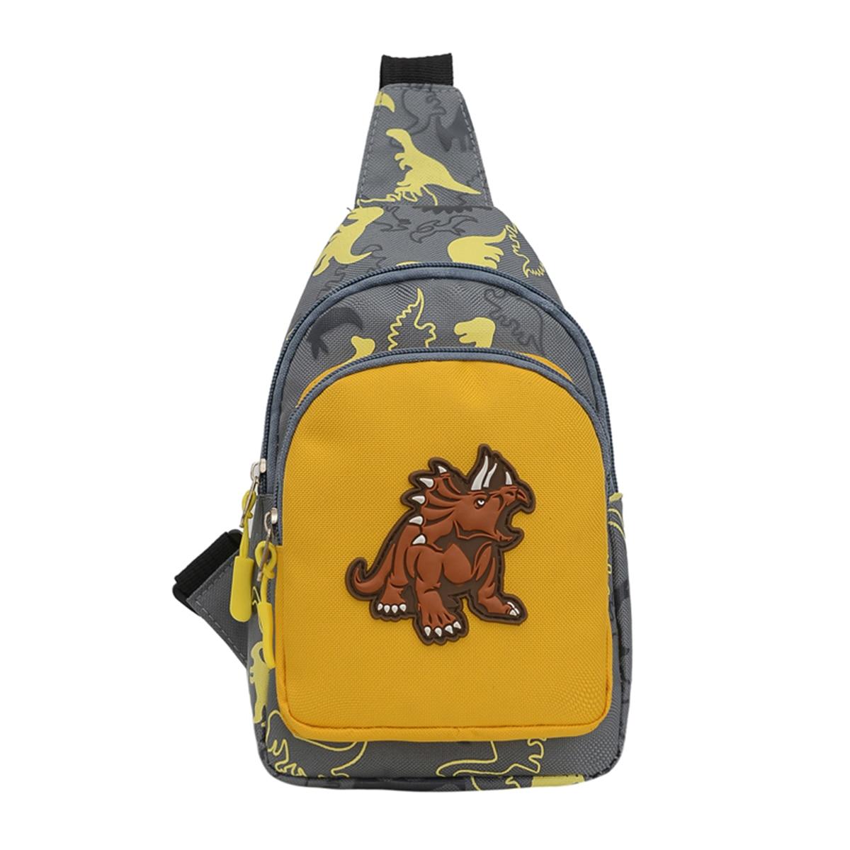 2020 Children Fashion Dinosaur Pattern Crossbody Shoulder Bag Mini Sling Backpack Chest Bags Travel