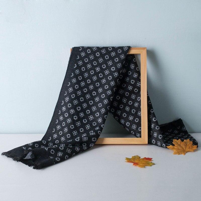 Роскошный брендовый новый дизайнерский мужской кашемировый шарф, зимние теплые шарфы для шеи, шаль для мужчин, мягкая кисточка, модные женс...