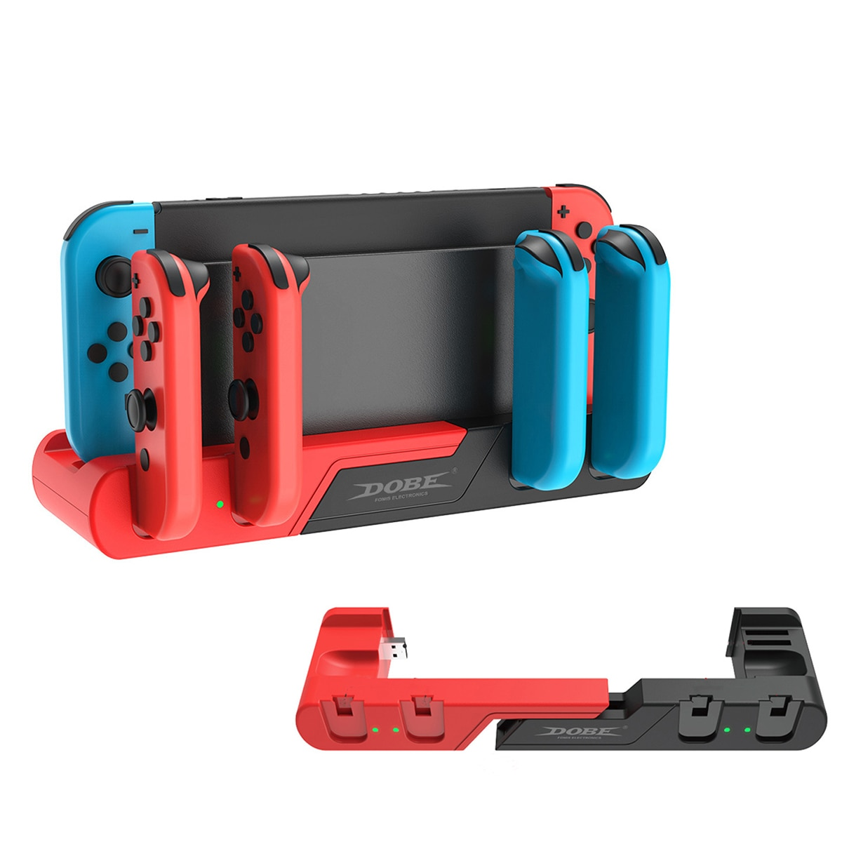 For Nintendo Switch Charger 4 Port Joycons Controller Gamepad Charging Dock Station Switch Console Holder Charger 8 Game Slots