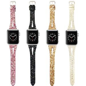 Suitable for Apple Watch Band 6 Women's Color Watch Strap  44MM 42MM 40MM 38MM  for IWatch  5 4 3 2 1 Leather Strap