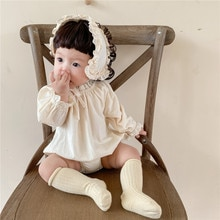 Autumn Newborn Girls Romper Princess Lace With Headband Baby Jumpsuit For Newborn Infant Clothes For