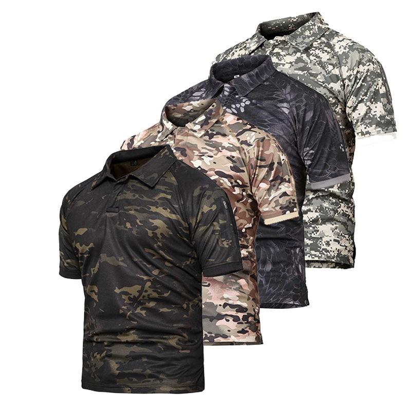 2020 camisa táctica de combate de manga corta camuflada de caza para hombre del ejército de talla grande 5xl P-28 de pesca