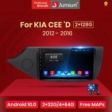 Junsun V1 Android 10 2G + 32G DSP lecteur multimédia dautoradio pour KIA CEED JD 2012-2016 Navigation GPS 2din autoradio mat
