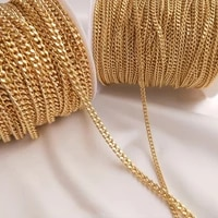 1meter 14k gold plated curb link chain 3 5mm bulk jewelry chains for jewelry making diy handmade necklace bracelet accessories