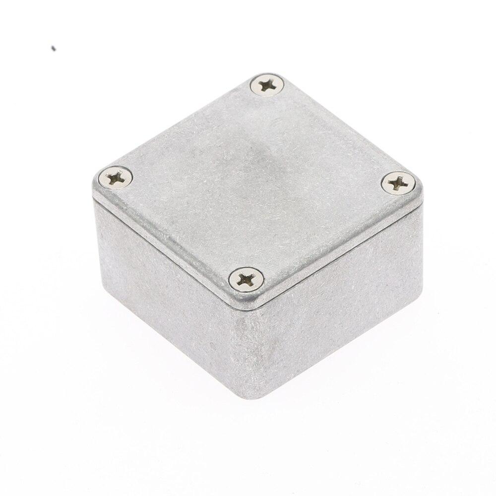 1pcs 1590LB Silver Aluminium Enclosure Electronic Diecast Stomp box Project Box50.5x50.5x31mm Electronic Project Case