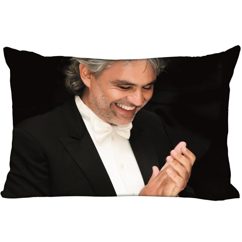 Hot Sale Andrea Bocelli Rectangle Pillowcase Custom Home textile Zipper Pillowcase Pillow Cover Size 45*35cm (one side) Print