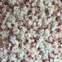 TONGFENG 10pcs/lot Flower runner wedding decoration Artificial silk rose peony 3D flower wall wedding backdrop decoration