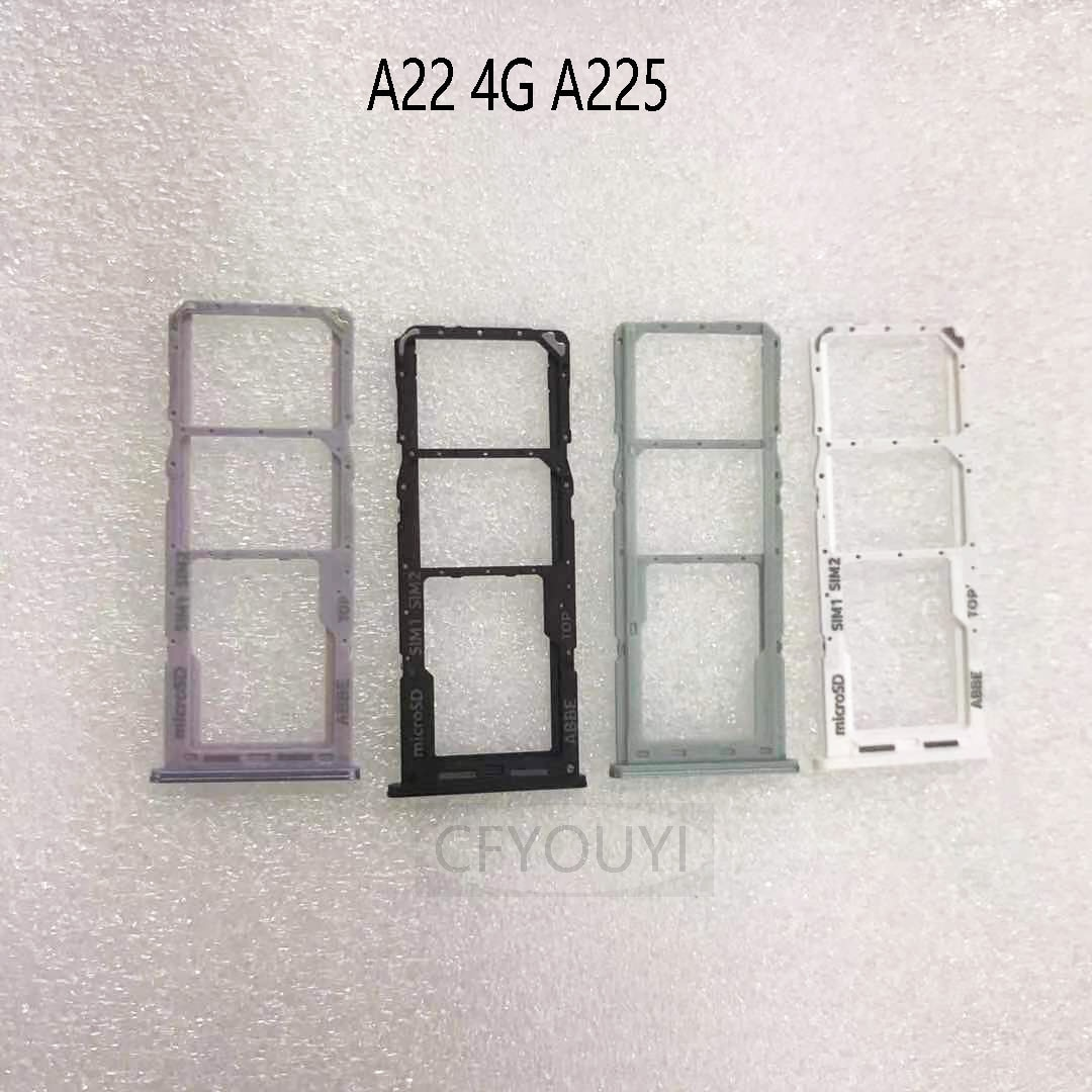 For Samsung Galaxy A22 4G A225F Micro SD Card Slot Dual SIM Card Tray Holder Replacement Part
