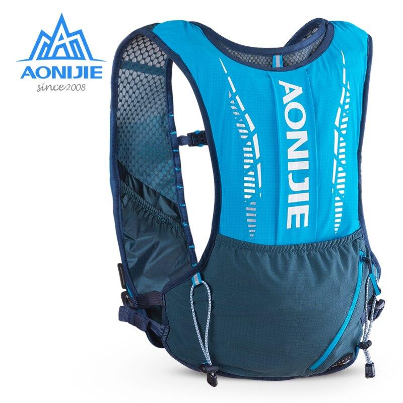 AONIJIE C9102 Ultra Vest 5L Hydration Backpack Pack Bag Soft Water Bag Flask Set for Hiking Trail Running Marathon Race Sport