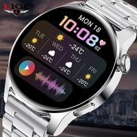 lige 2021 new smart watch men full touch screen sports fitness watches waterproof bluetooth call man smartwatch for android ios