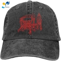 death classic logo adjustable unisex hat baseball caps black