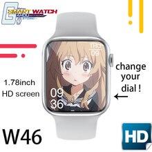 W46 Smart Horloge Mannen Bluetooth Voor Poco X3 W46 Voor Ios Android Fitness Tarcker Smartwatch Pk Amazfit Neo W26 Haylou ls02 X6 T500