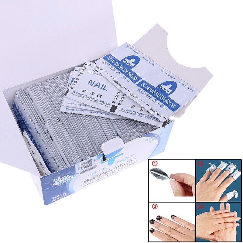 200 шт УФ-гель для ногтей для удаления инструмент для чистки ногтей салфетки Pad для удаления лака для ногтей маникюрные инструменты
