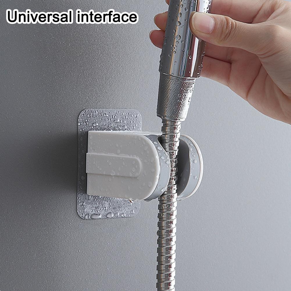Hand Shower Head Holder Punch Free Wall Mounted Adjustable Hand Shower Head Bracket Self Adhesive Bathroom Accessories