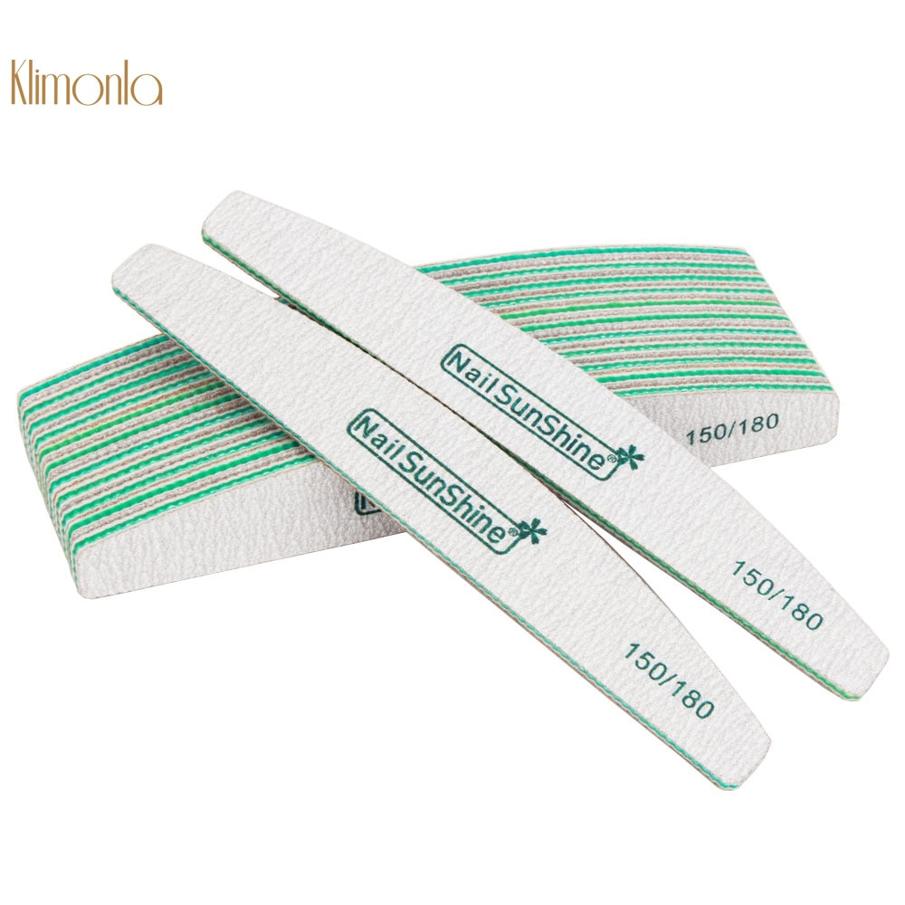 25Pcs/lot Green Nail Art Buffer Block 150/180 Grit Professional Double-sided Sanding Nail File Cuticle Remover Manicure Tools