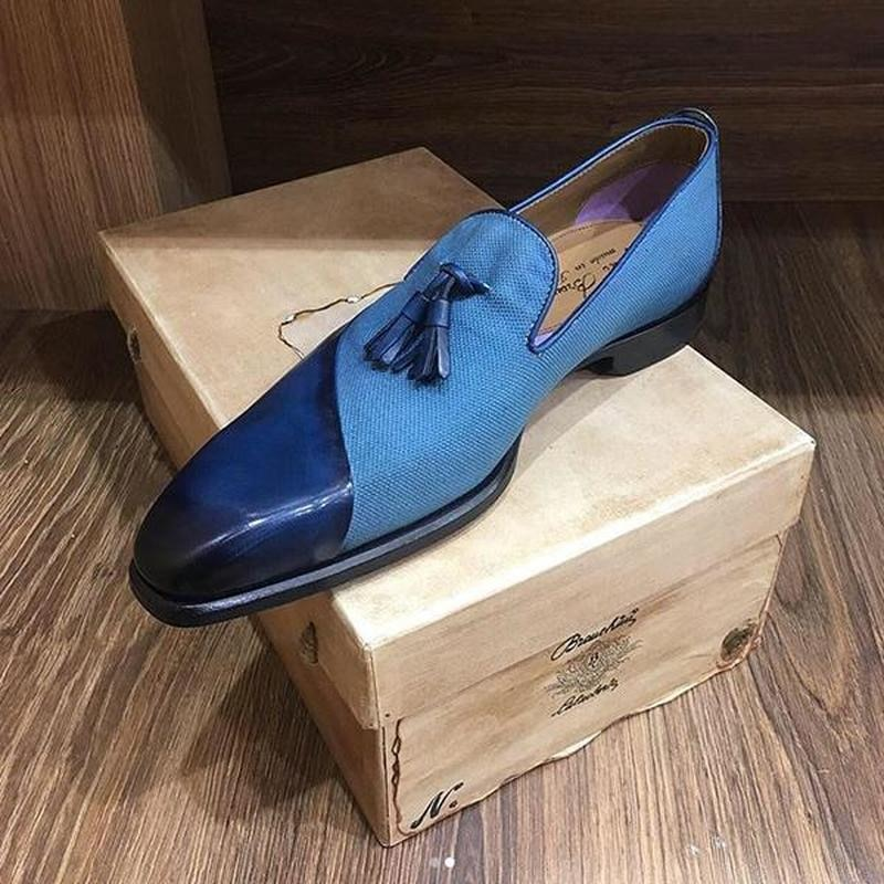الرجال موضة الربيع/الخريف أشار تو المرقعة الشرابة أحذية لوفر كل مباراة تنفس عادية بو أحذية رياضية من الجلد HL061