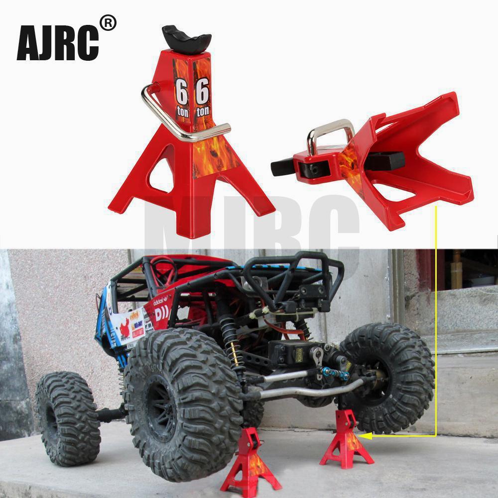 1 пара RC автомобилей, металлический домкрат, Ремонтный инструмент для 1/10 RC альпинистских автомобилей гусеничный Diecasts, модели автомобилей, з...