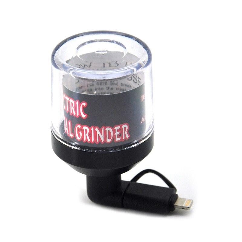 Molinillo Eléctrico para fumar, accesorios para fumar, adecuado para Android y IPhone