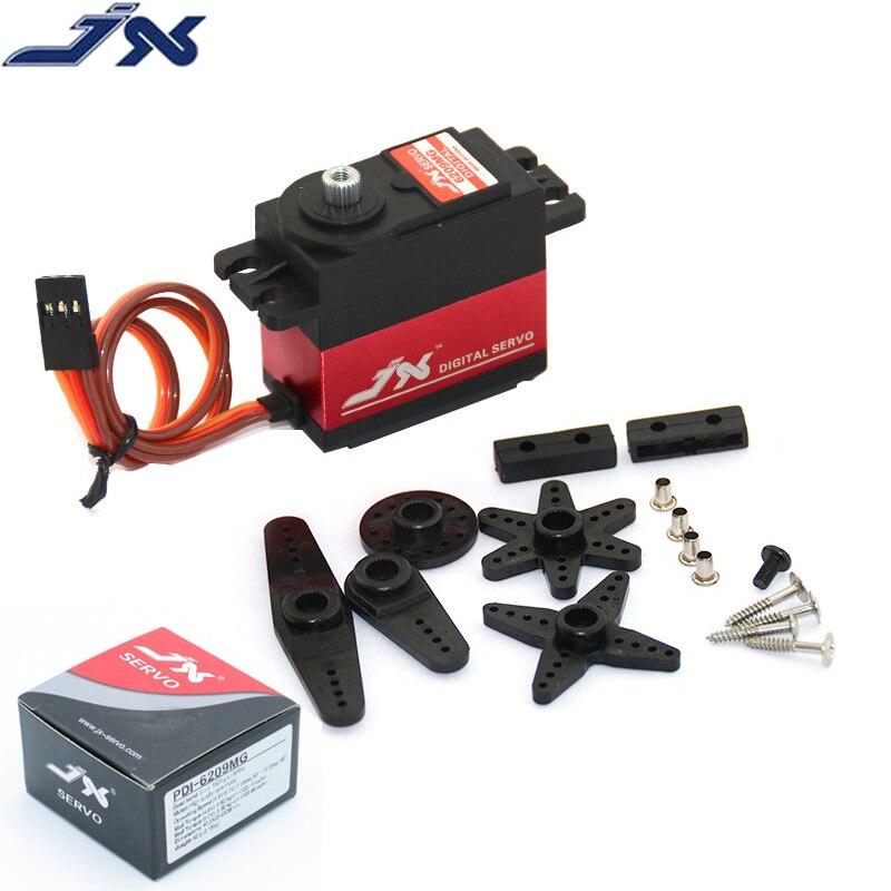 JX PDI-6209MG 4.8V-6V 0.13sec/60 9.35kg Digital Metal Servo Aluminums Case for 1/10 RC car Kst Servo Car Model Motor RC Parts