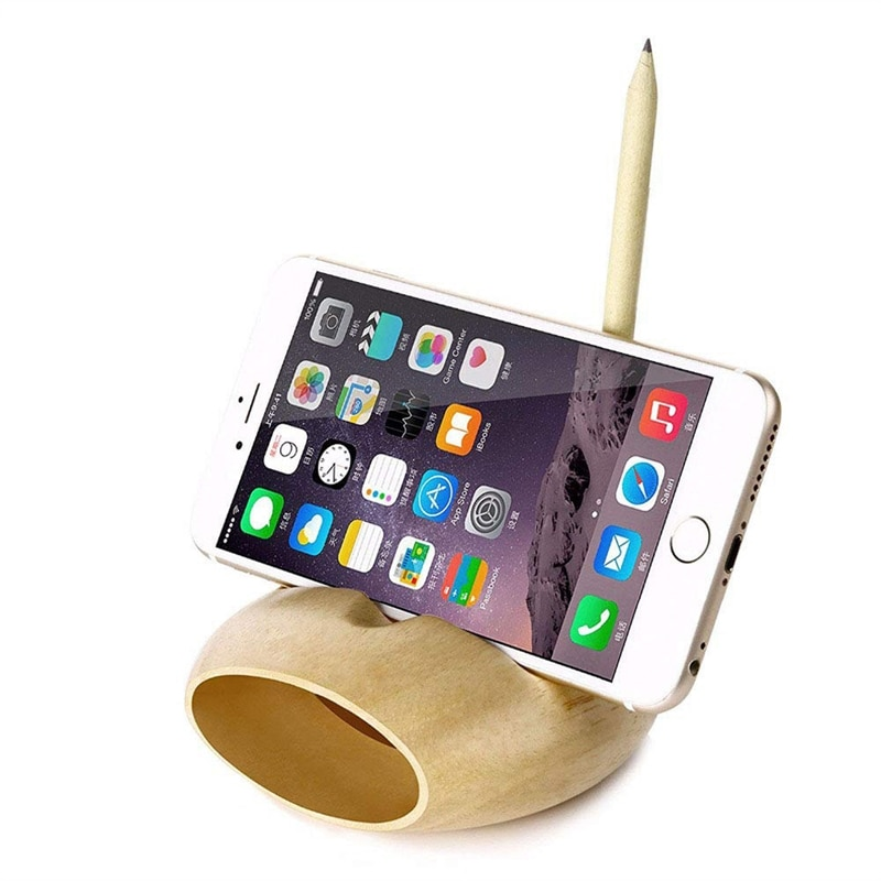 Mobile Phone Loudspeaker Speaker Wooden Cell Phone Holder Sound Amplifier Bamboo Bracket Wood Desktop Stand Support