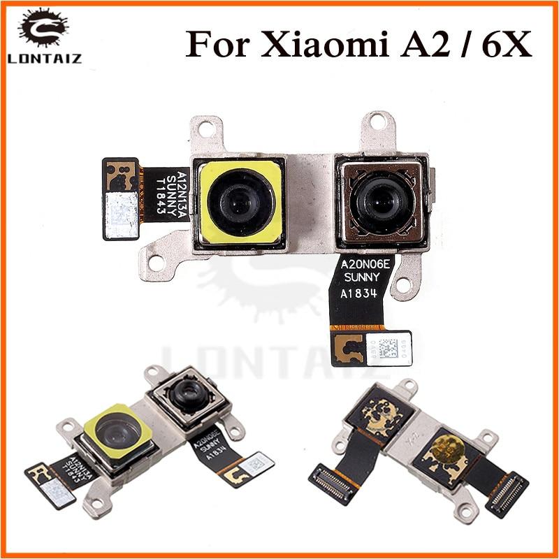 Cámara trasera cable flexible para Xiaomi mi A2 mi A2/mi 6X mi 6X M6X cámara frontal Moudel teléfono reparación piezas de repuesto
