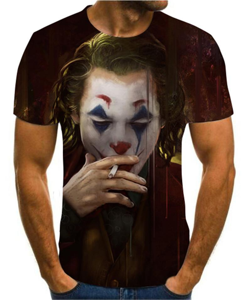 2020 Summer Newest Clown 3d Printed T Shirt Men Joker Face Casual Male Tshirt Clown Short Sleeve Fun