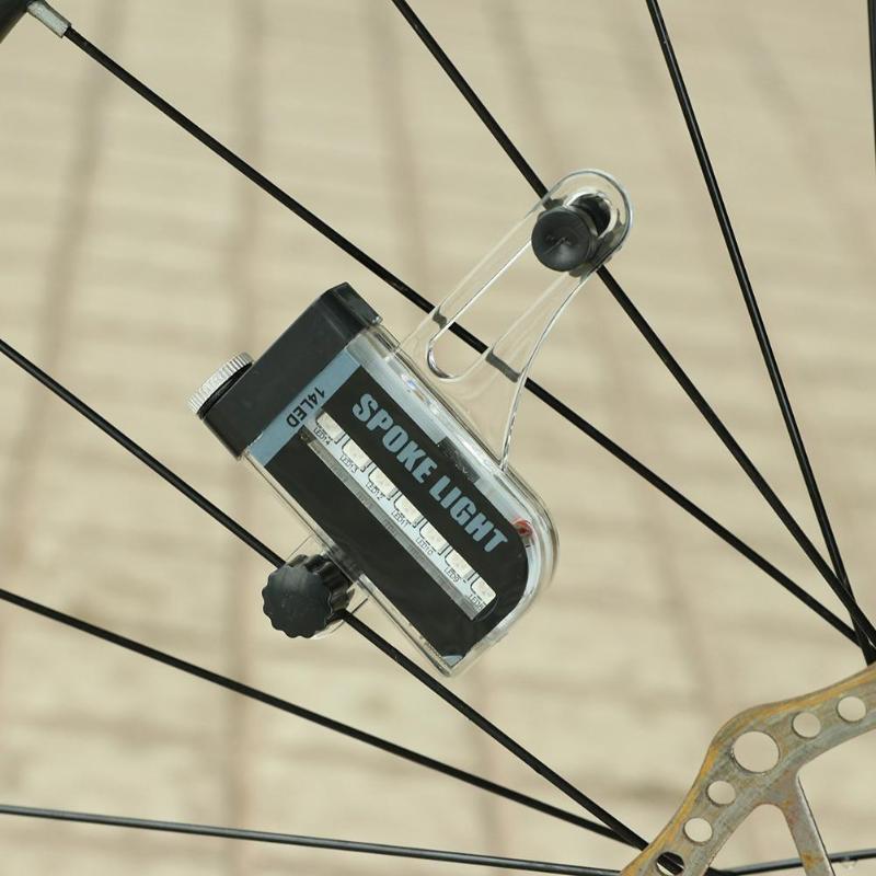 Wasafire Bike Spoke Decorations Bicycle Lights Bicycle Cycling Bike Tyre Tire Wheel Valve 14 LED Flash Spoke Warning Light Lamp