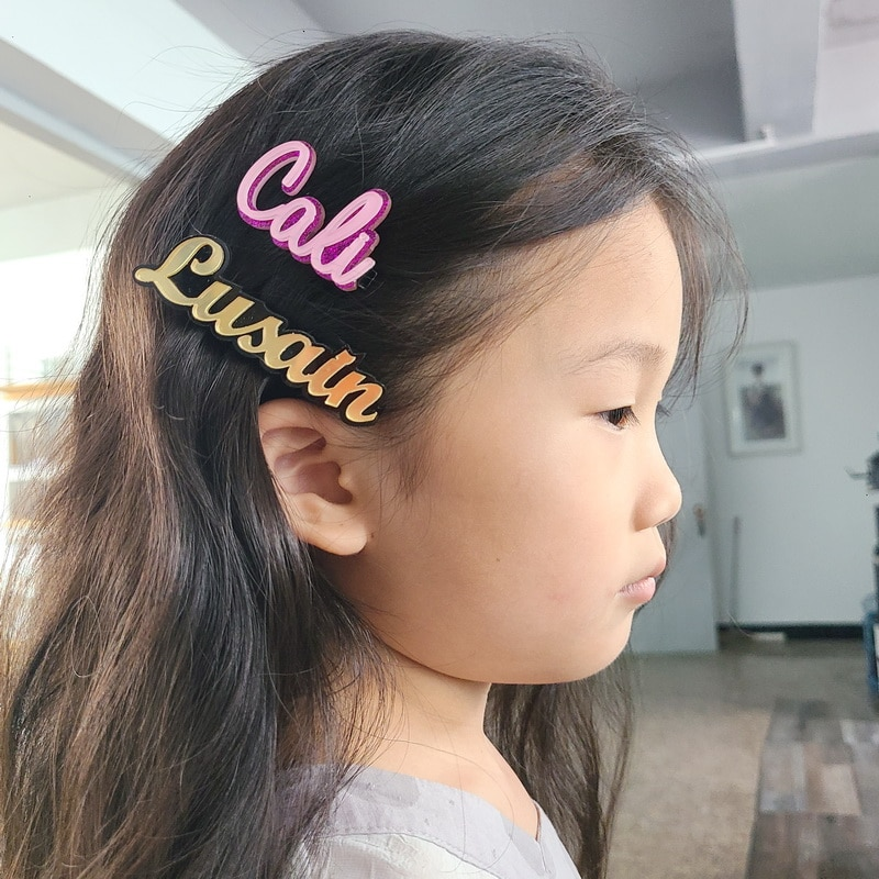 Custom Words Hair pins Barrettes Personalized Name Hair Clips Letters for Women Girls Customize Prod