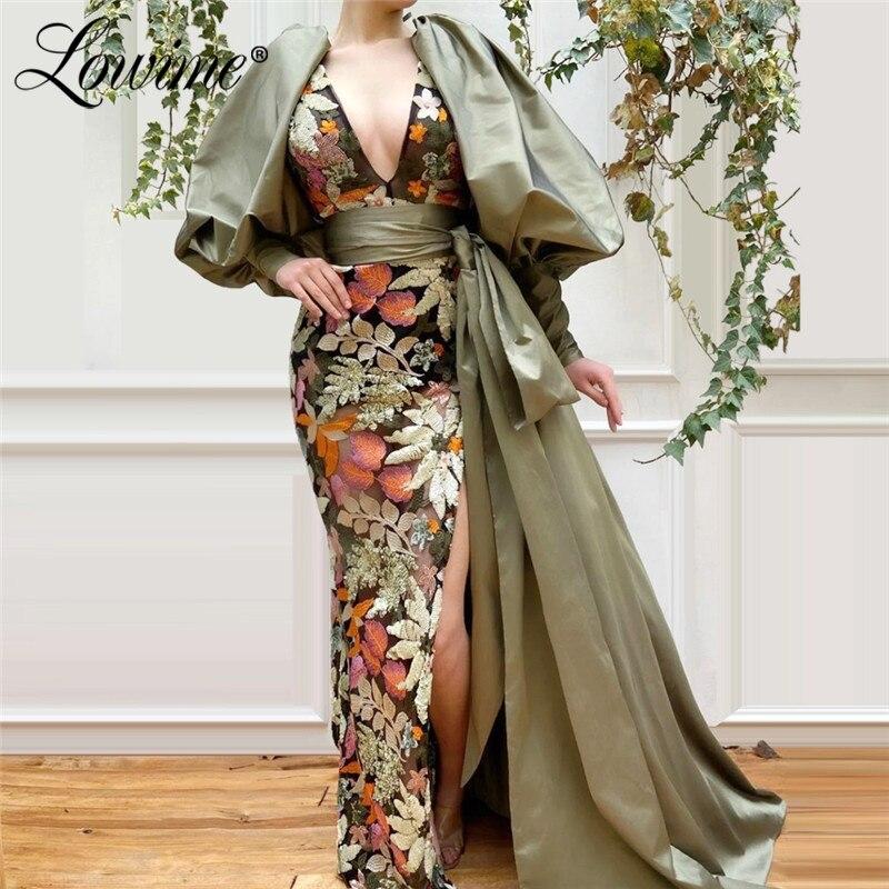 Arabia Saudita sirena vestido De noche turco Aibye De manga larga vestido De graduación Formal vestidos fiesta vestido De velada Longue Abendkleider