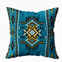 sofa pillow case home decorative throw pillow cover 16x16inch invisible zipper cushion cases tribal abstract geometric ornament