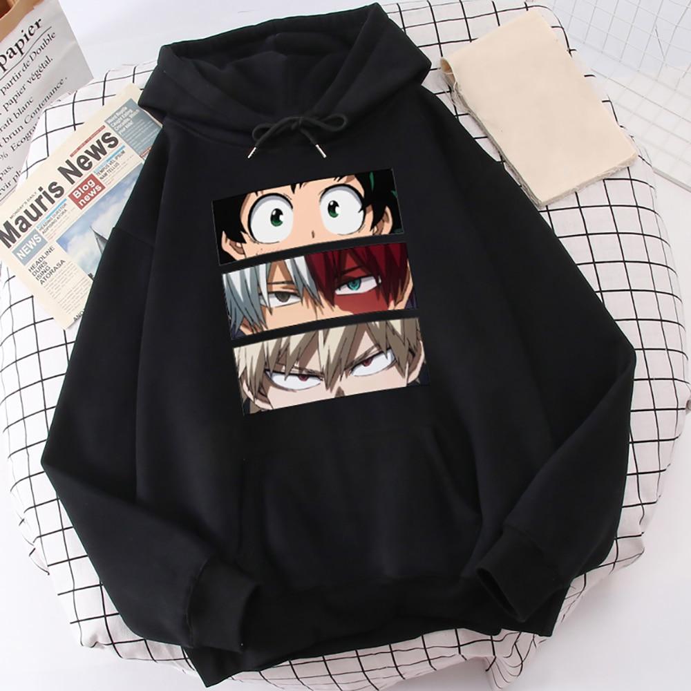 My Hero Academia Hoodies Men's Casual Fashion Sweatshirts Japan Anime Loose Hoodie Hip Hop Creativity Streetwear Male