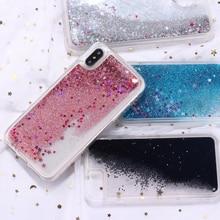 Fashion Glitter Sparkle Liquid Quicksand Star Heart Hard Phone Case Coque Fundas For iPhone 11 Pro 6S 7 7Plus 8 8Plus X XS Max