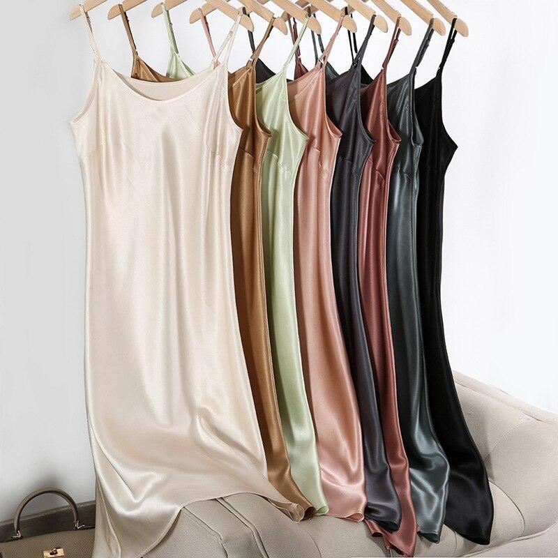 ثوب نوم حريري مثير للنساء ، بيجاما حريرية يمكن ارتداؤها في الهواء الطلق ، تنورة ترابيز من الساتان ، فستان ، جديد ، 2021
