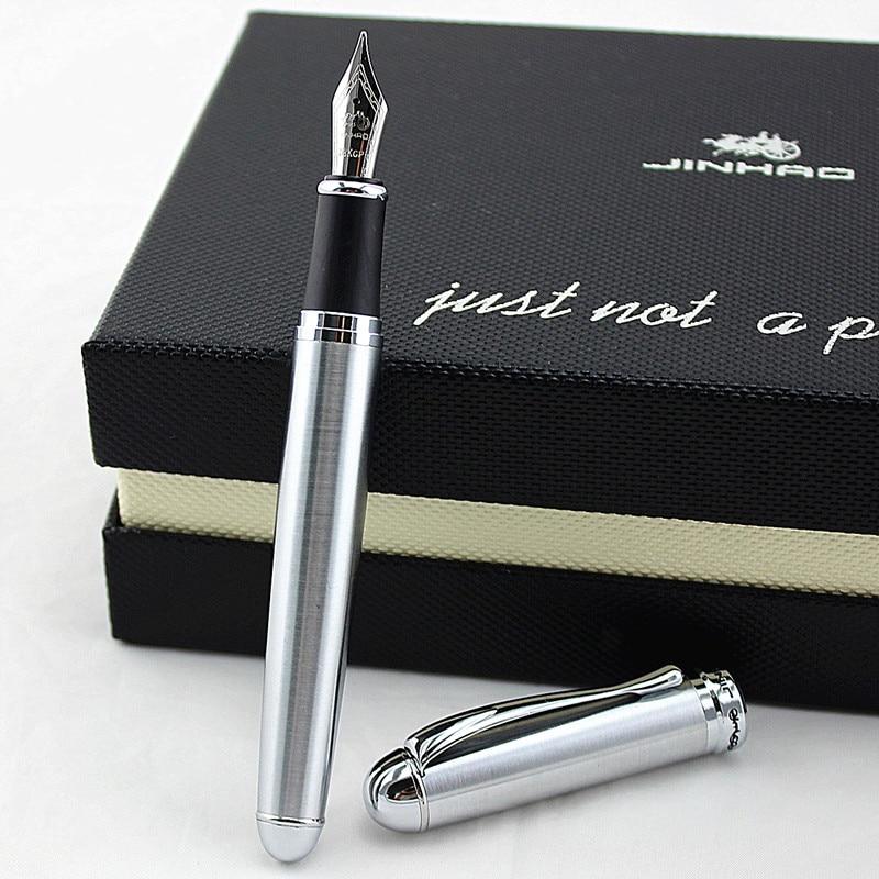 JINHAO 750 благородный железный серый перьевая ручка 18KGP F, канцелярские принадлежности, школьные и офисные ручки для письма