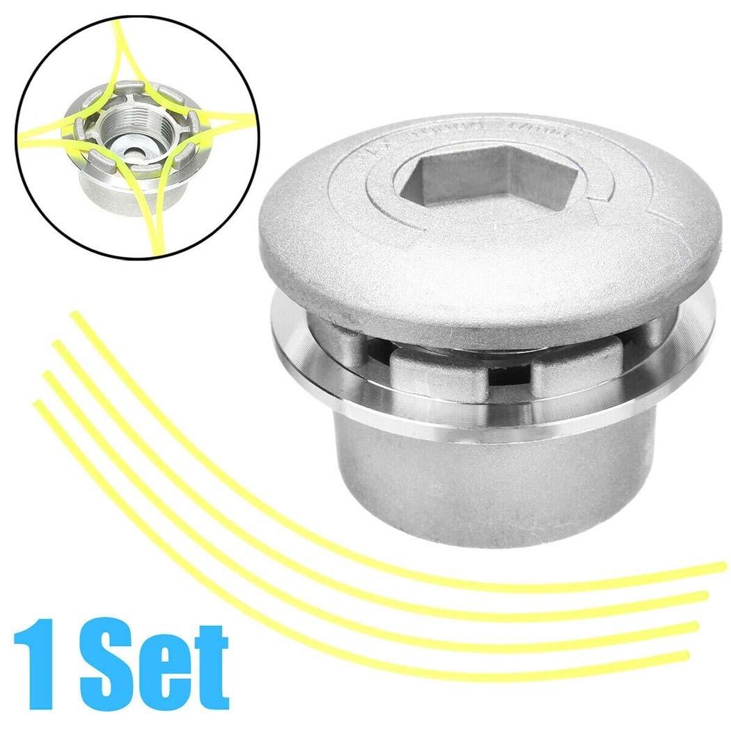 Новая Универсальная двухлинейная алюминиевая стриммерная головка для триммера, струна для газонокосилки, аксессуары для газонокосилки