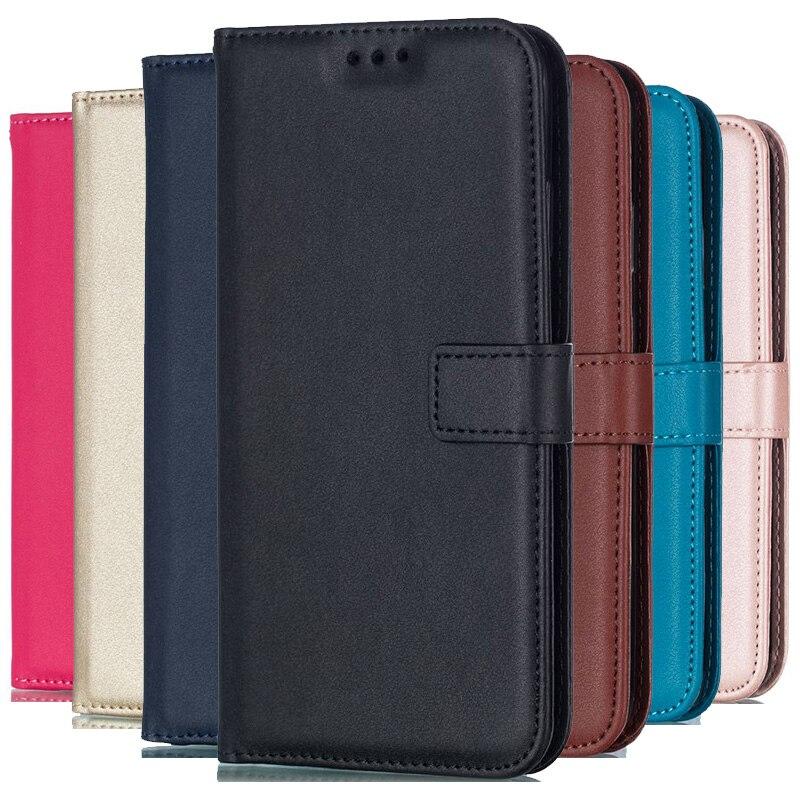 Feste Farbe Leder Brieftasche Fall Für Huawei Ehre 10 Mate 30 Pro P8 mini P9 Lite 2017 P10 P20 Lite p30 Flip Abdeckung Karte Slot Tasche