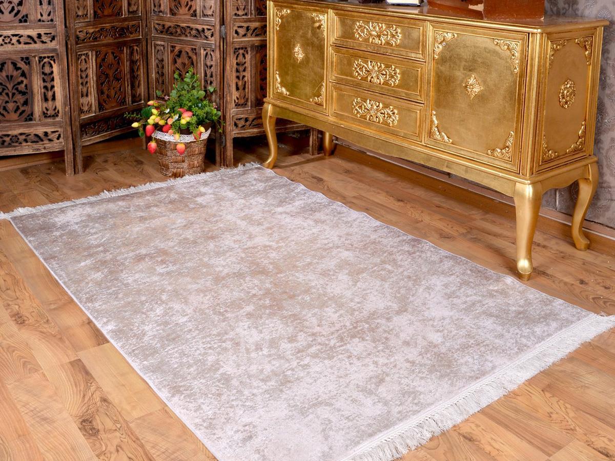 نعل لاتكس غير قابل للانزلاق ، سجادة مخملية مطبوعة رقمية ، كريم شفاف ، 150 × 220 سم