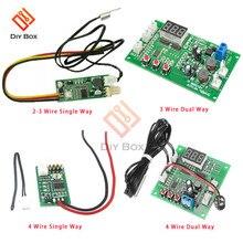 Contrôleur de vitesse de contrôle de température de ventilateur de fil de cc 12V 3/4 PWM régulateur de vitesse simple/double voie régulateur de contrôle de température