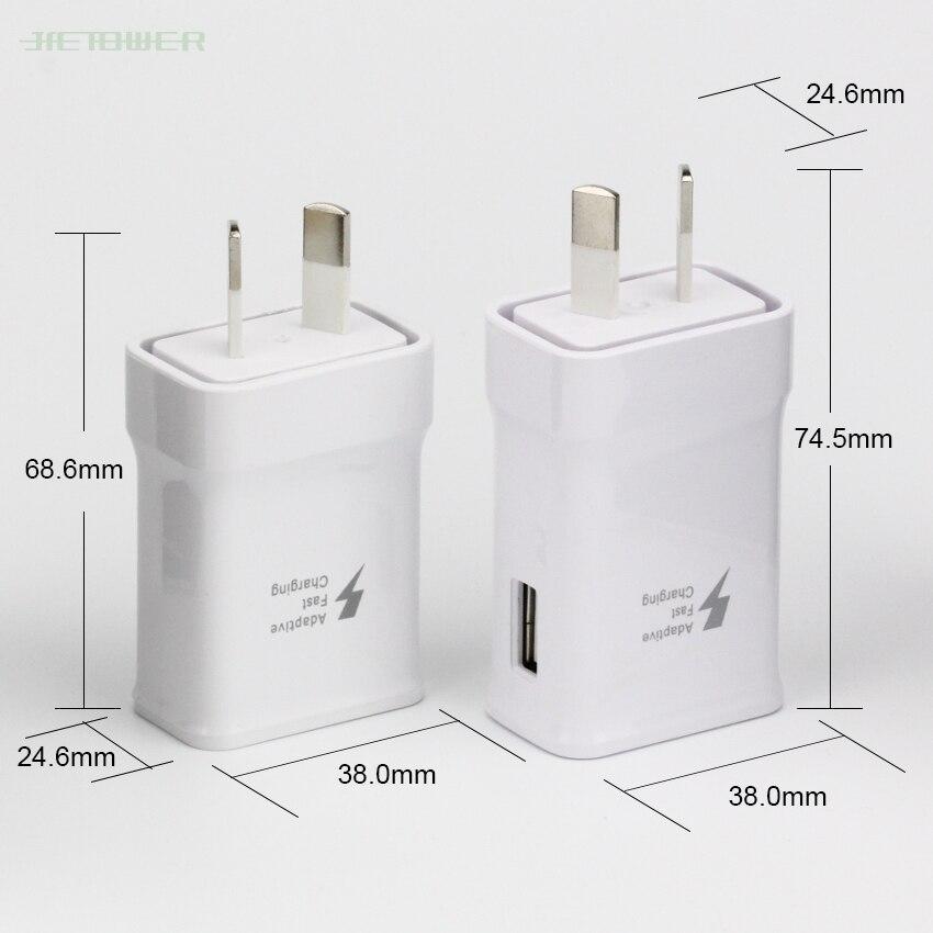 50 unids/lote Nueva Zelanda AU enchufe verdadero rápido estable 9,0 V 1.67A 5,0 V 2.0A cargador para Samsung S6 Tablet PC viaje adaptador de pared de escritorio