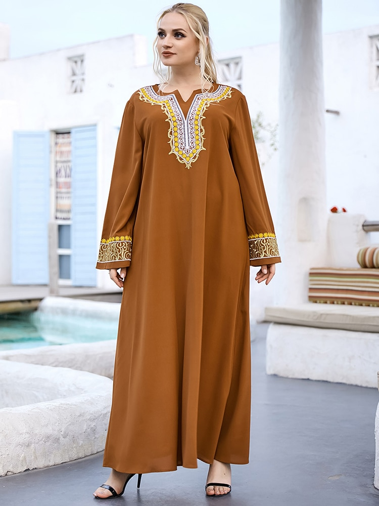 Ramadan Eid Mubarak Turkish Maxi Dresses For Women Abaya Dubai Islam Muslim Long Dress Caftan Robe Musulmane Longue Femme Kaftan