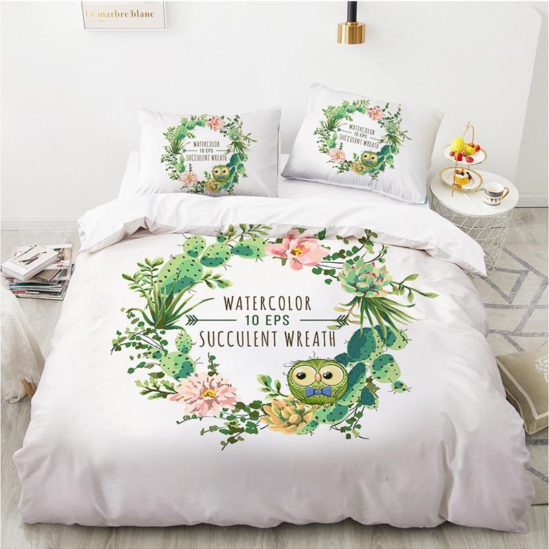 200x200 غطاء لحاف مع المخدة النبات HD مطبوعة طقم سرير غرفة نوم المنزل 240x220 حاف الغطاء للمراهقين الاطفال الكبار